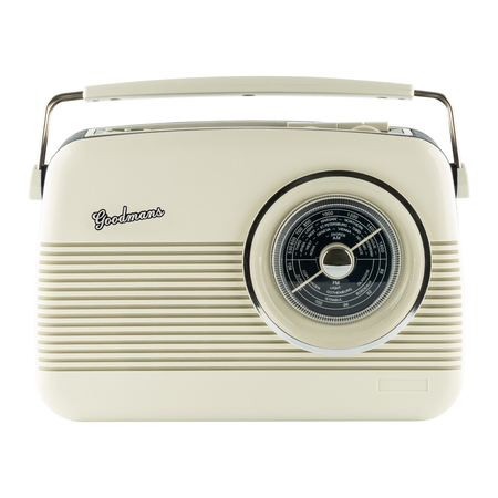 Goodmans Cambridge Retro 1960s Replica Radio DAB+ Creme