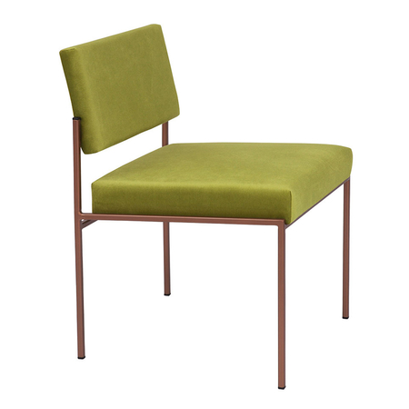 Sternzeit Retro Cube Stoel Velvet Apple Green