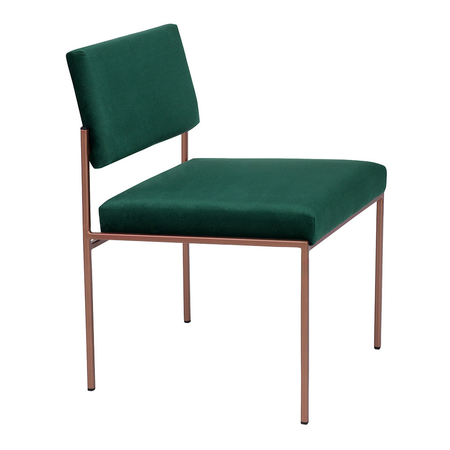 Sternzeit Retro Cube Stoel Velvet Hunter Green
