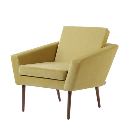 Sternzeit Supernova Retro Fauteuil Velvet Lemon Yellow