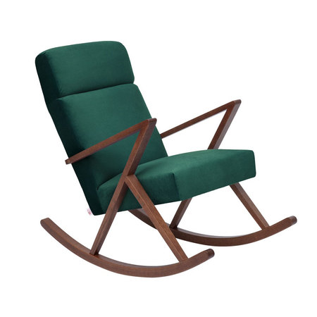 Sternzeit Retro Lounge Schommelstoel Velvet Hunter Green