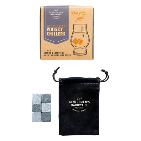 Gentlemen's Hardware Retro Whisky Koelers Set van 6 Whisky Stenen