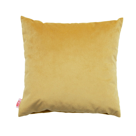 Sternzeit Retro Kussen Velvet Lemon Yellow