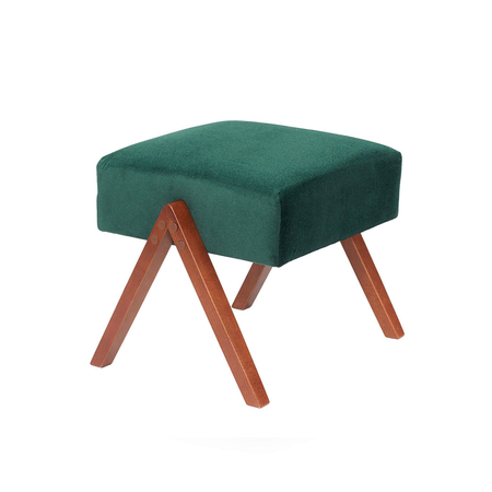 Sternzeit Retro Poef Velvet Hunter Green