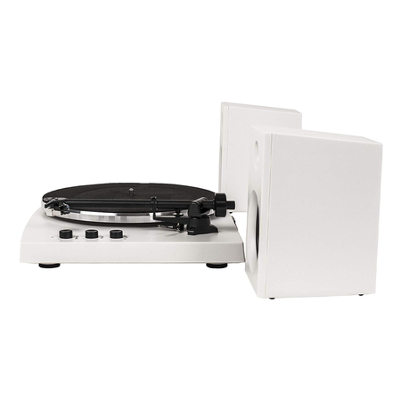 Crosley T150 Retro Platenspeler Bluetooth Wit met Externe Luidsprekers