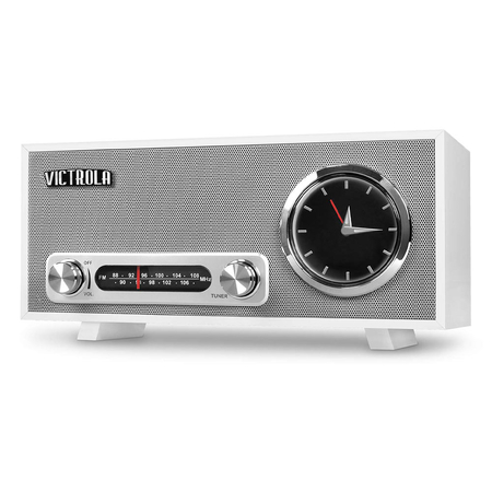 Victrola VC-150 Retro Radio Wekker Bluetooth Wit
