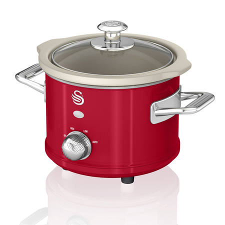 Swan Retro 1.5 L Slowcooker Rood