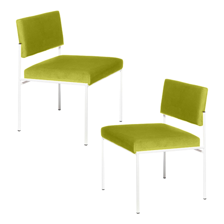 Sternzeit Retro Cube Stoel Wit Apple Green 1+1 Bundel