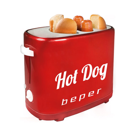 Beper BT.150Y Hot Dog Pop-Up Machine Rood