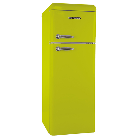 Schneider SDD 208 V2 SP A++ Retro Koelkast Lime Green