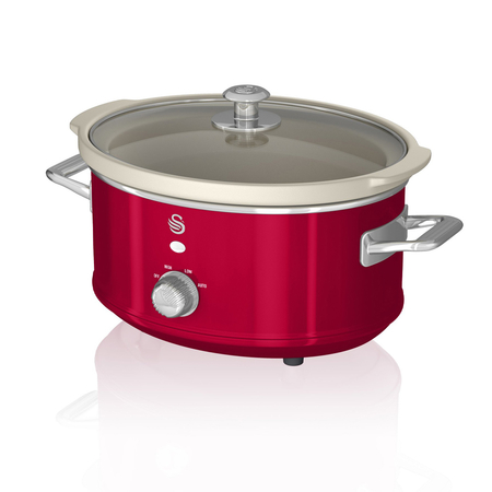 Swan Retro 3.5 L Slowcooker Rood