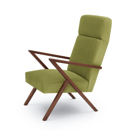 Sternzeit Retro Relaxfauteuil Velvet Apple Green 1+1 Bundel