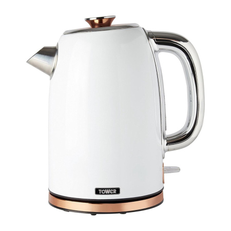 Tower T10023W  Retro Waterkoker 1.7 Liter Bottega Rose Gold Wit