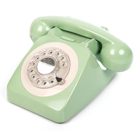 GPO 746 Draaischijf Retro Telefoon Swedish Green