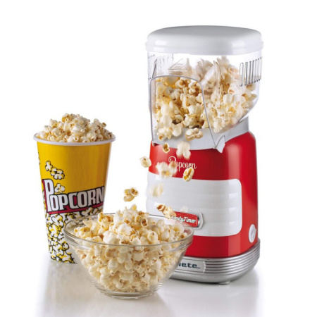 Rode popcorn maker in leuk retro design van Ariete