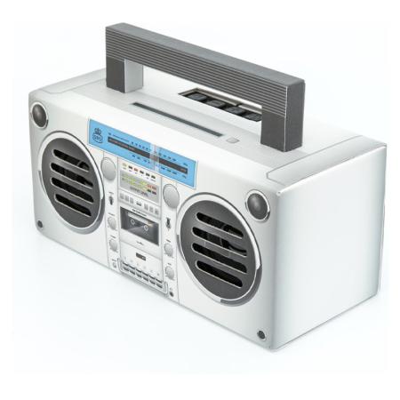 Back to the 90s met deze originele Boombox bluetooth speaker van GPO