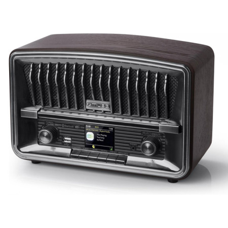 DAB+ Radio in vintage design met bluetooth en alarmfunctie