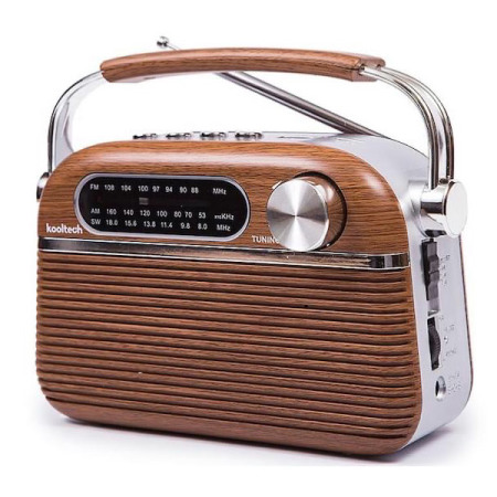 Retro radio met AM en FM-radio, Bluetooth en AUX-in