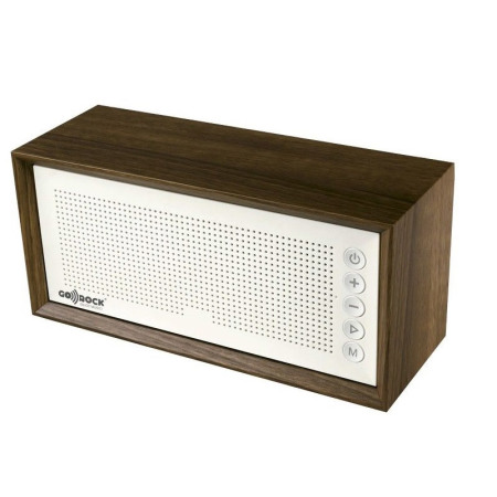 Houten bluetooth speaker in jaren 60 design