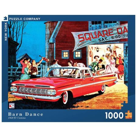 New York Puzzle Company - Barn Dance 1000-delige Puzzel