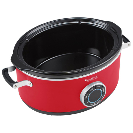 TurboTronic SC200 Retro 6.5 L Digitale Slowcooker met Timer Rood