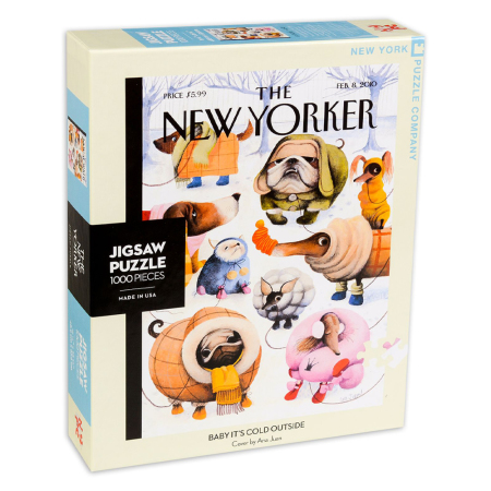 New York Puzzle Company - Baby It's Cold Outside 1000-delige Puzzel