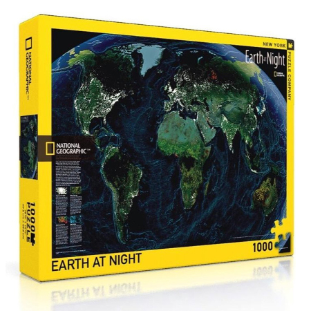 New York Puzzle Company - The Earth At Night 1000-delige Puzzel