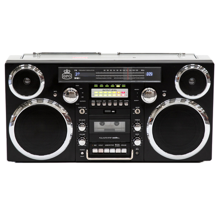 GPO Brooklyn Ghettoblaster Bluetooth Boombox Zwart