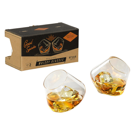 Gentlemen's Hardware Retro Rocking Whisky Glazen Set van 2