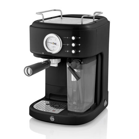 Semi-automatische one-touch retro espressomachine van Swan