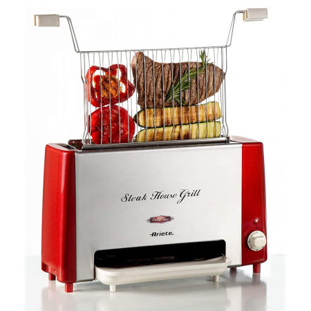Ariete Steak House Verticale Grill Party Time Rood
