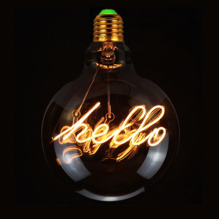 Vintage Gloeilamp | LED-Lamp Hello | Grote Fitting E27 | 4W