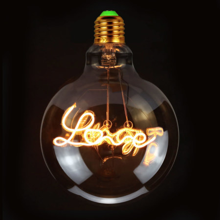 Vintage Gloeilamp | LED-Lamp Love | Grote Fitting E27 | 4W