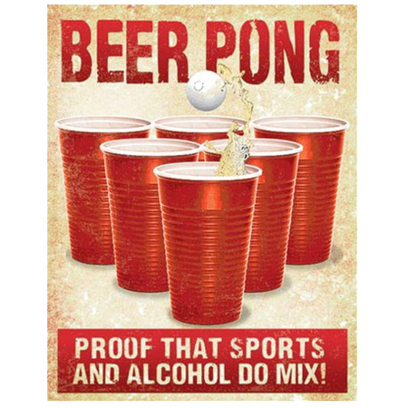 Metalen Retro Bord Beer Pong