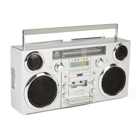 GPO Brooklyn Ghettoblaster Bluetooth Boombox Zilver