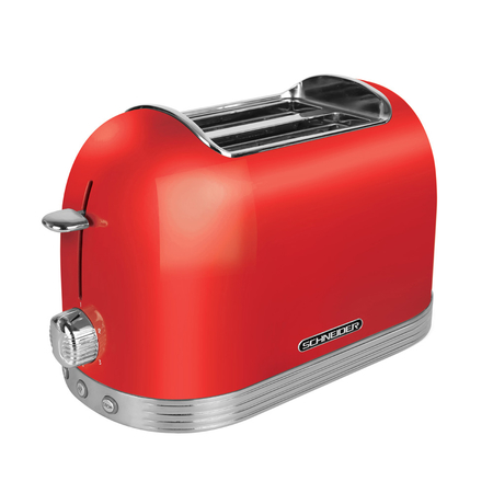 Schneider SC TO 2 Retro Broodrooster Fire Red