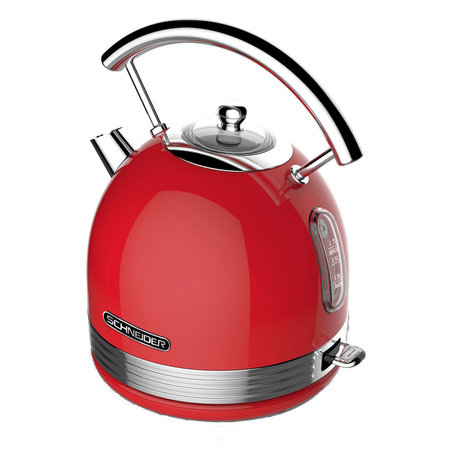 Schneider SC KE17R Retro Waterkoker Fire Red