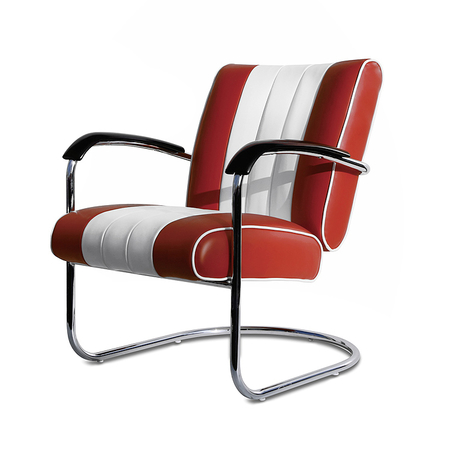 Bel Air Retro Loungestoel LC-01 Ruby