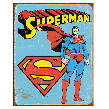 Metalen Retro Bord Superman