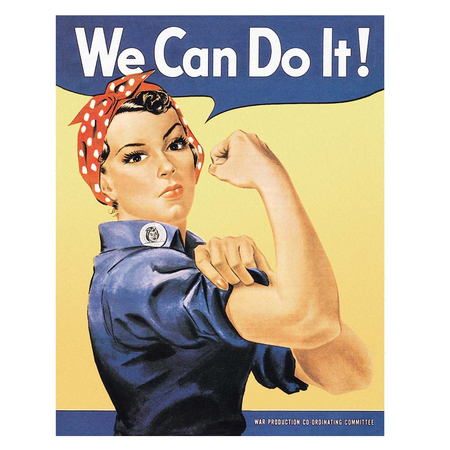 Metalen Retro Bord Rosie The Riveter