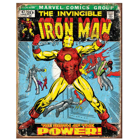 Metalen Retro Bord The Invincible Iron Man