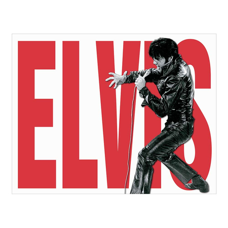Metalen Retro Bord Elvis Leather