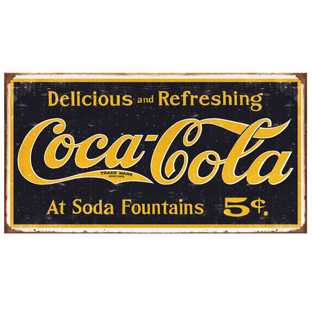 Metalen Retro Bord Coca Cola Weathered