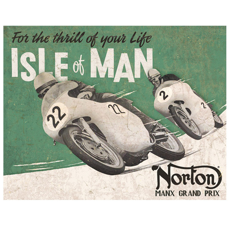 Metalen Retro Bord Norton Isle Of Men