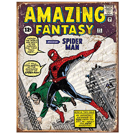 Metalen Retro Bord The Amazing Spiderman