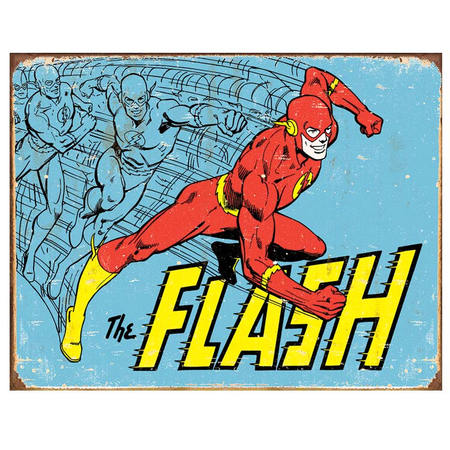Metalen Retro Bord The Flash