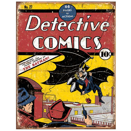 Metalen Retro Bord Detective Comics NO 27