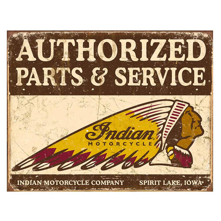 Metalen Retro Bord Indian Motorcycle Company