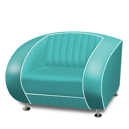 Bel Air Retro Fauteuil SF-01 Turquoise