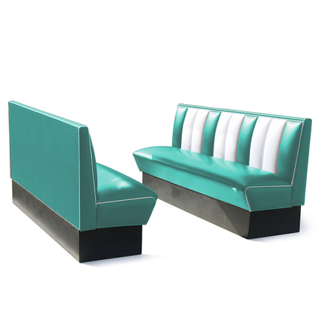 Bel Air Dinerbank Single Booth HW-180 Turquoise